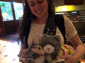 Miss Emily with Sophie from Kitty Cat Chronicles and Plush CK from Stunning Keisha