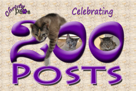 Celebrating 200 posts - Blogoversary and Comment-a-thon for A-Pal Humane Society