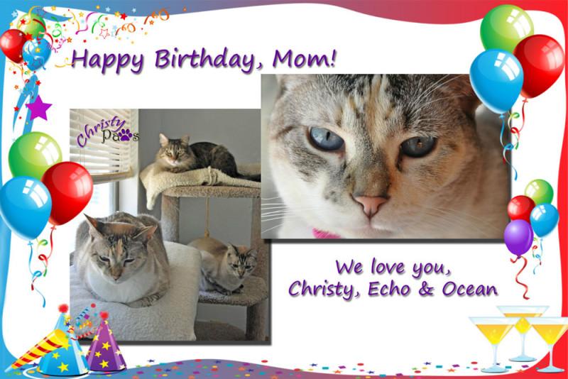 Happy birthday, mom pizap