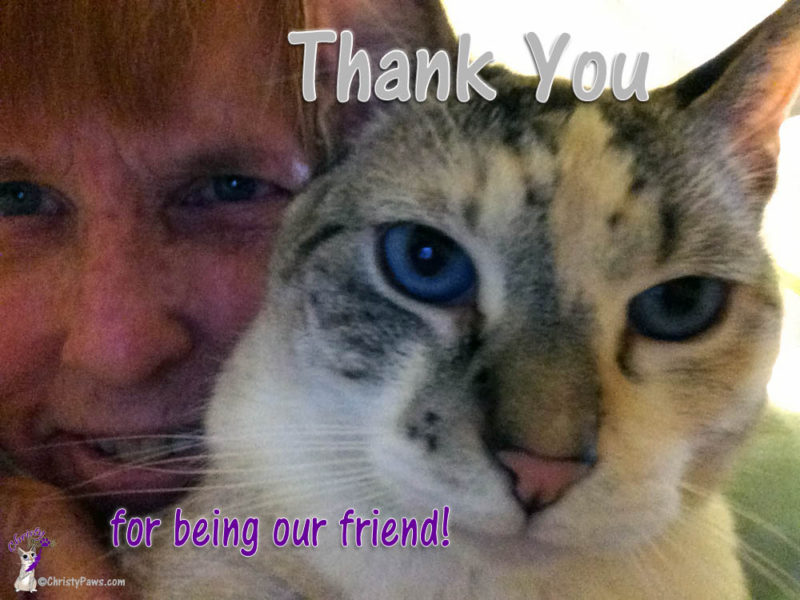 Christy and Ava Thank You Selfie for 2nd Blogoversary